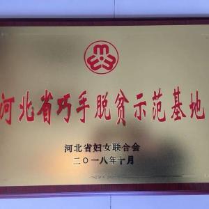 荣获【河北省巧手脱贫示范基地】