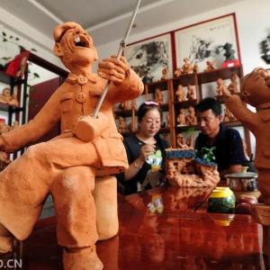 哪里有做泥塑人物的,首先想的是陈淑珍泥塑!