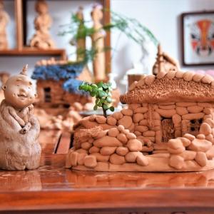 泥塑作品:房屋系列